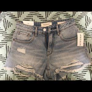 NWT Pacsun High Rise Shorts Size:23